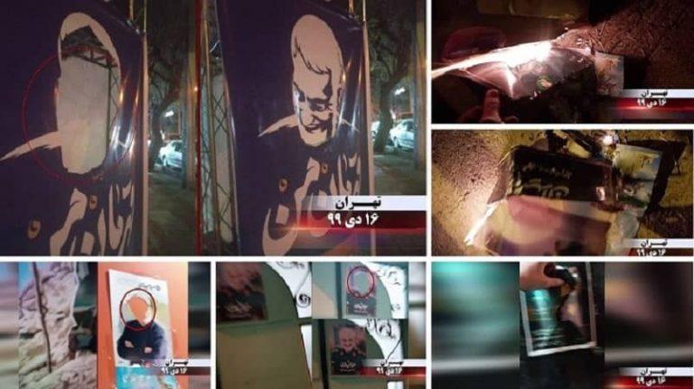 Iran: Activities of Resistance Units and Mujahedin-e Khalq (MEK) Supporters – Destroying Qassem Soleimani's Posters