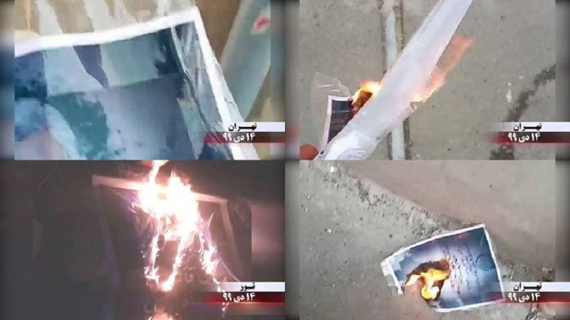 Teheran - Unit Perlawanan- Membakar poster Qassem Soleimani - 3 Januari 2021