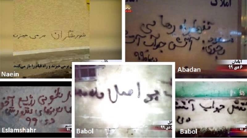 "Berbagai kota di Iran - ""Kejatuhan rezim ulama ada pada Unit Perlawanan""- minggu terakhir bulan Desember 2020"