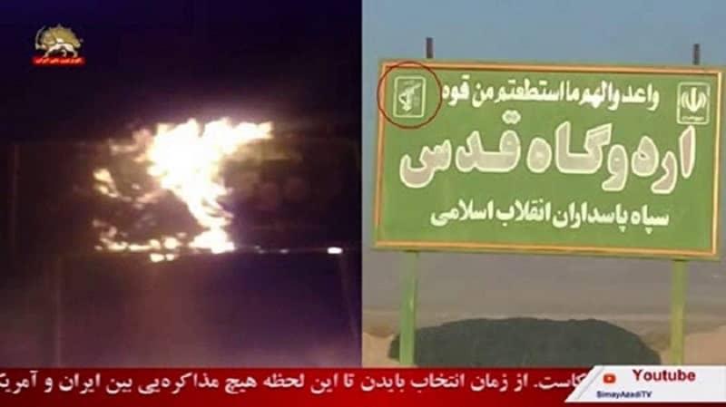 Kashan - Pangkalan Basij IRGC yang represif - 25 Januari 2021