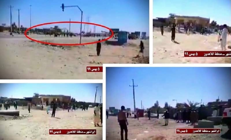 Kolahdooz, Iranshahr – The repressive security forces attacked the defenseless people under the pretext of combatting smuggled fuel. They used bird shots to disperse the crowd who had rushed to defend the locals- January 24, 2021