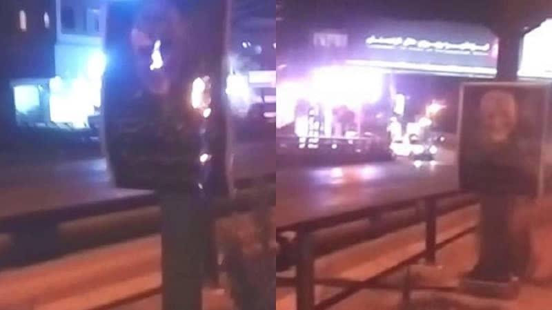 Nowshahr- Membakar plakat Qassem Soleimani - 2 Januari 2021