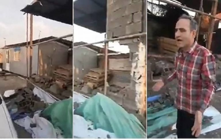 Iran: Demolition of a Shop Owner's Store in Tehran for Rejecting To Pay a Bribe To Regime's Municipality
