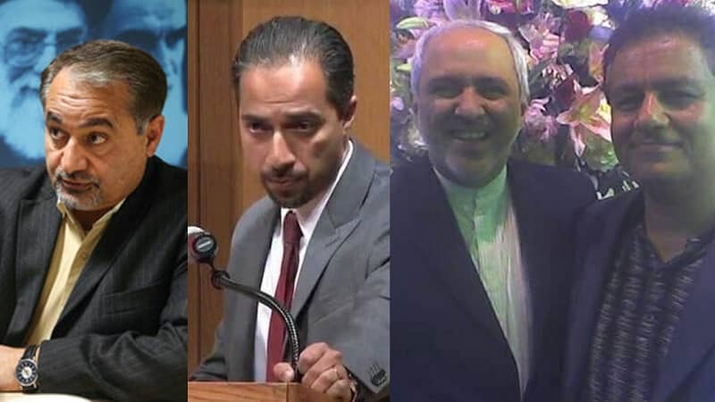 Meet some Iranian lobbies in West: (from left) Seyed Hossein Mousavian, Trita Parsi, Mohammad Javad zarif with Kaveh Afrasiabi