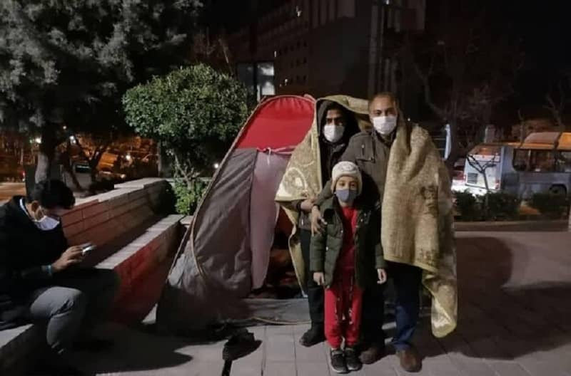 A group of preschool teachers, who came to Tehran from different provinces in recent days to protest against their employment status, have spent their night in the park of the Iran regime's parliament
