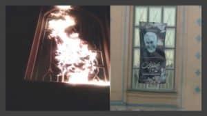 Teheran - Membakar spanduk Qassem Soleimani, komandan pasukan teroris Quds yang dieliminasi -