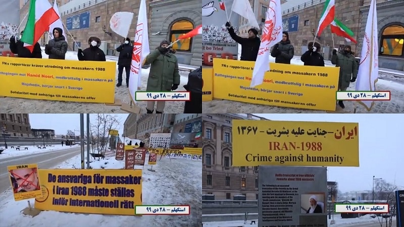 Supporters of the MEK demonstrate in Stockholm, in Front of the Parliament - January 17, 2021