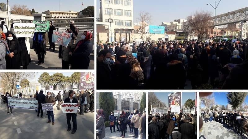 Pensioners in various cities across Iran protest their poor living conditions - January 10, 2021