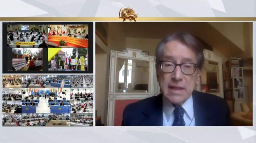Guilio Terzi speaks to the online conference - February 4, 2021
