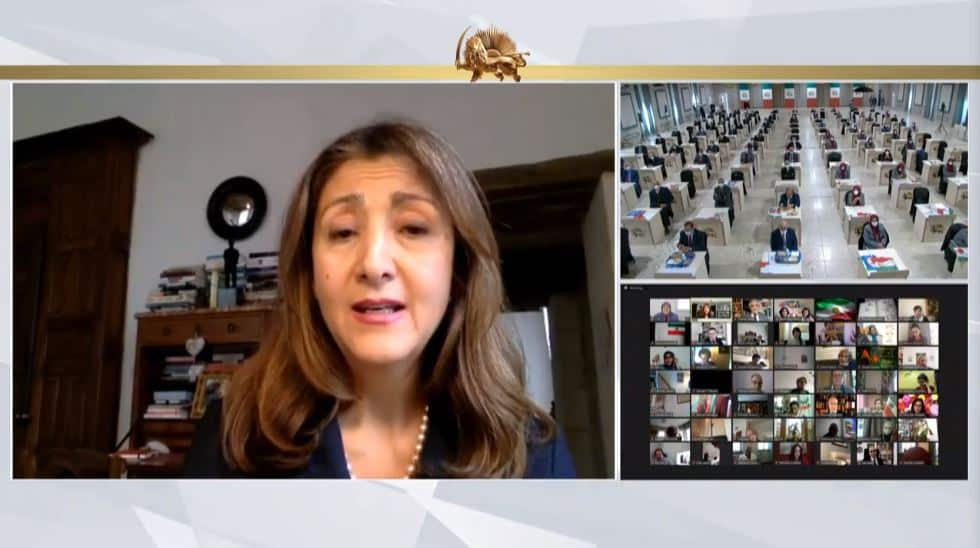 Ingrid Betancourt speaks to the online conference - February 4, 2021