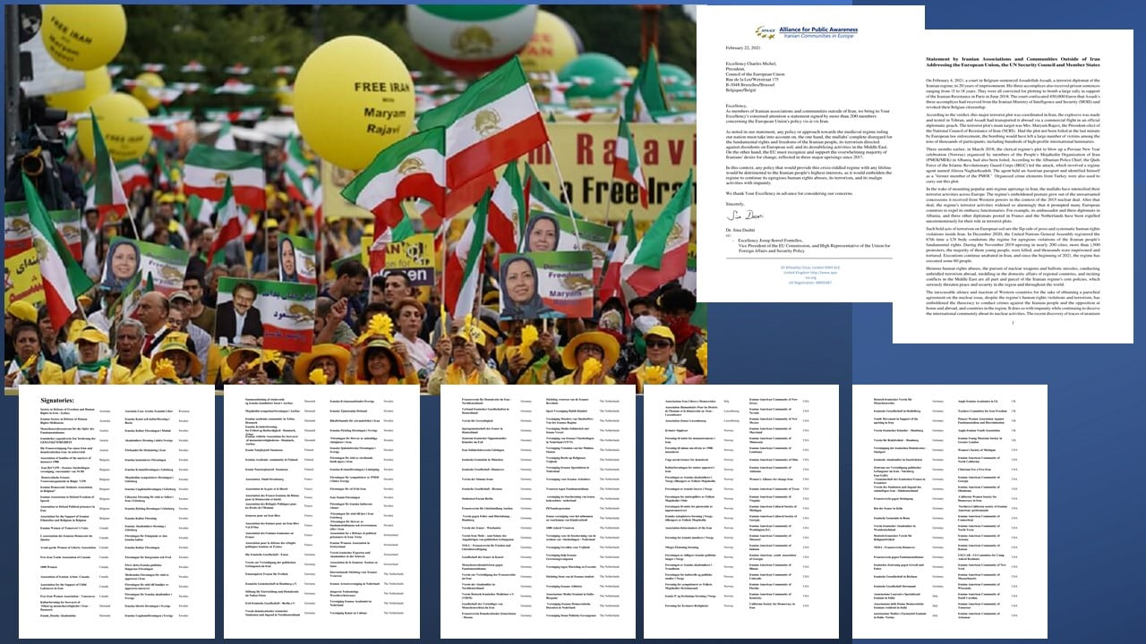 Members of Iranian Communities Demand EU a Firm Iran Policy