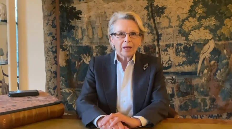Michèle Alliot-Marie speaks to the online conference - February 4, 2021