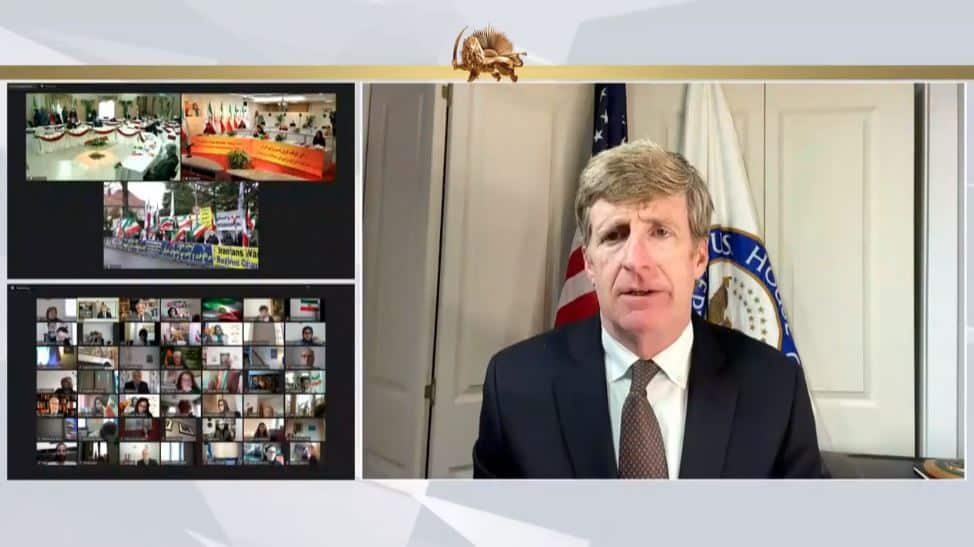 Patrick Kennedy speaks to the online conference - February 4, 2021