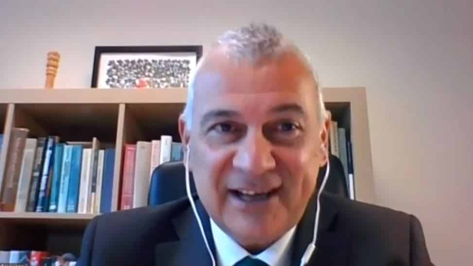 Paulo Casaca speaks to the online conference - February 4, 2021