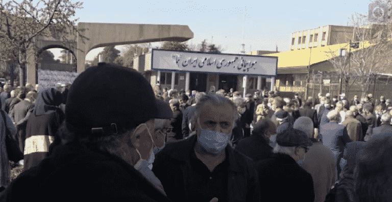 Iran: Retirees Protest Nationwide in at Least 22 Cities