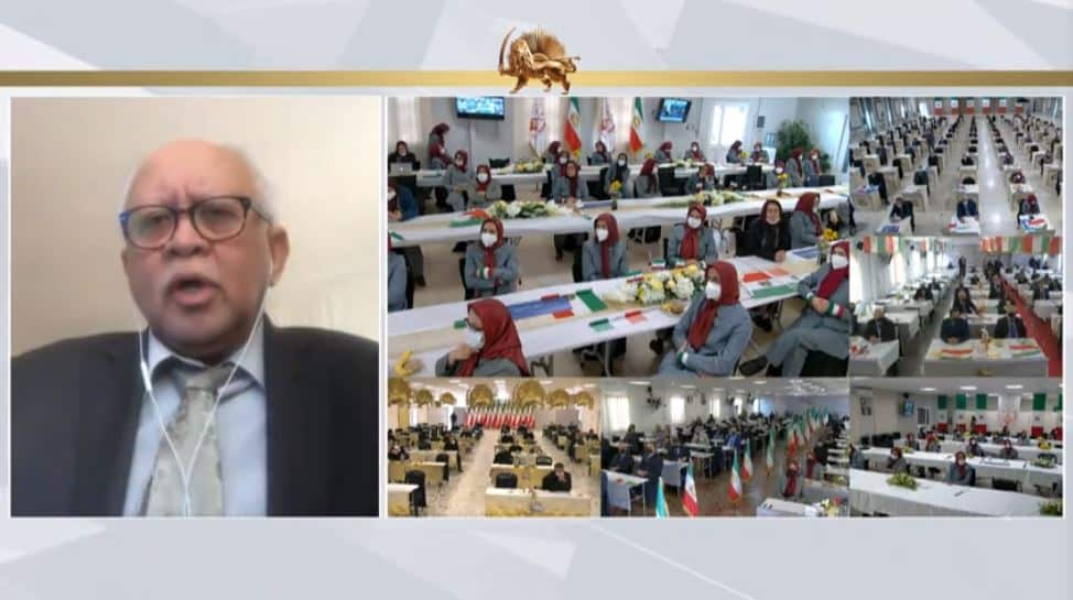 Dr. Riad Yassin Abdallah speaks to the online conference - February 4, 2021