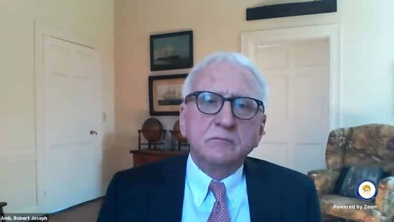 Amb. Robert Joseph speaks to the online panel - February 4, 2021