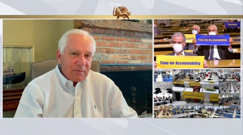 Robert Torricelli speaks to the online conference - February 4, 2021