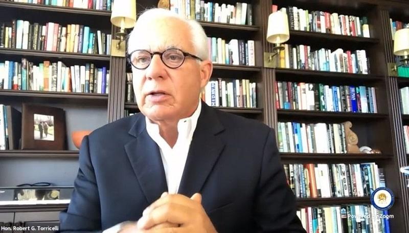Senator Robert Torricelli speaks to the online panel - February 4, 2021