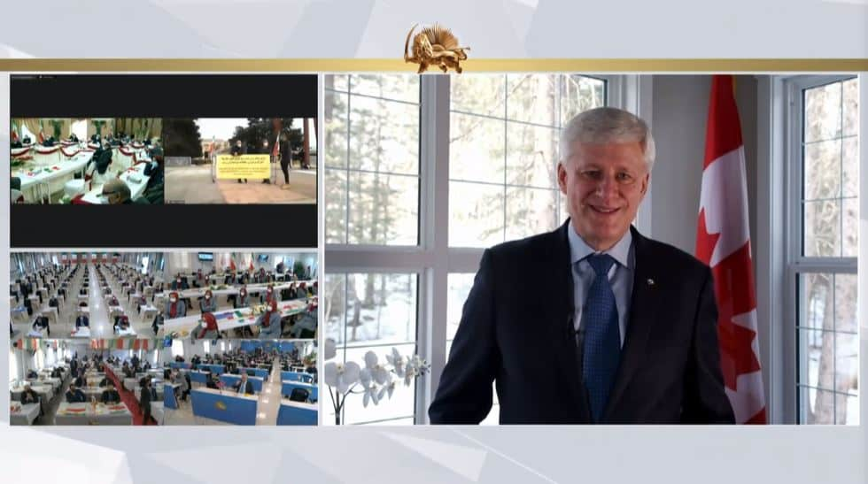 Stephen Harper speaks to the online conference - February 4, 2021