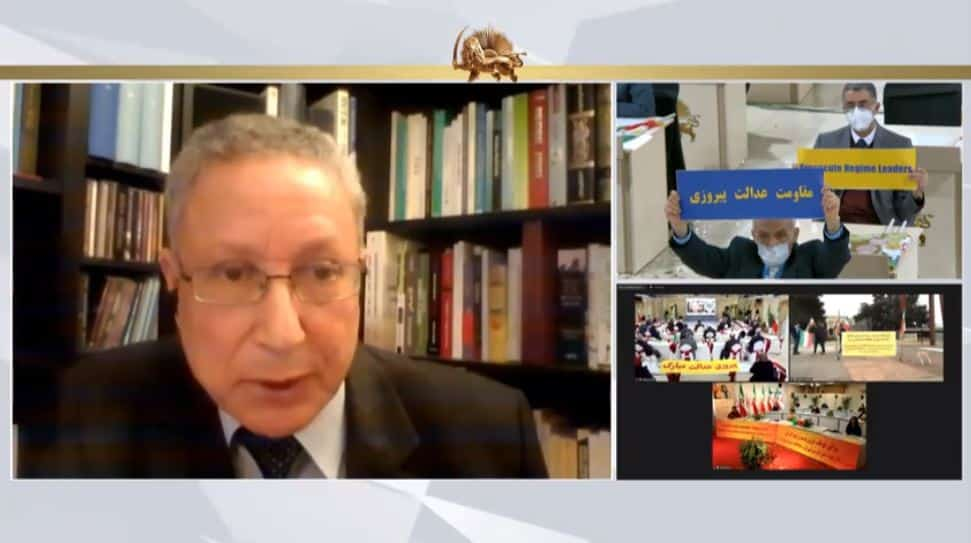 Dr. Tahar Boumedra speaks to the online conference - February 4, 2021