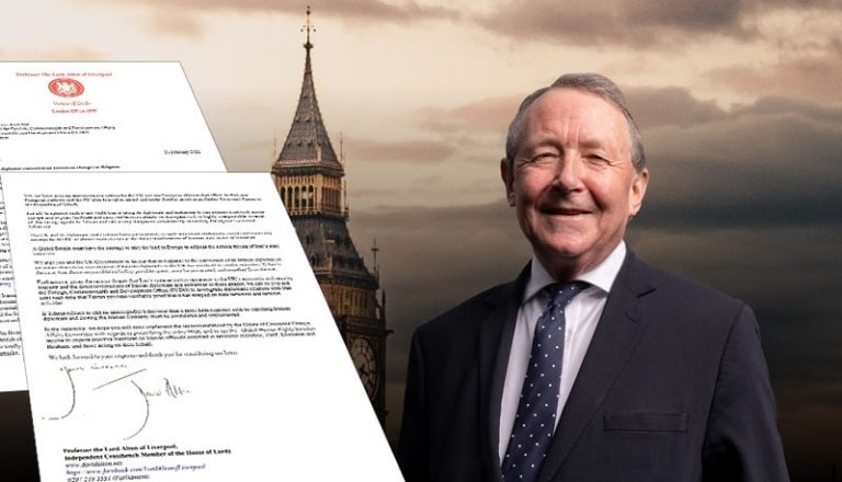 Letter by Lord Alton To UK Foreign Secretary: Hold Iran Accountable for Terrorism
