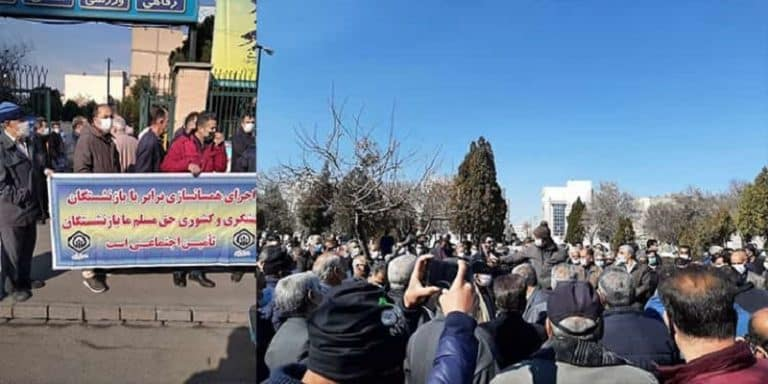 "Iran: Retirees Protest Nationwide in at Least 18 Provinces and 20 Cities ""We Will Not Give up Until We Get Our Rights"""