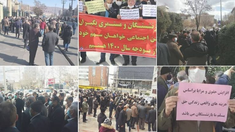 Iran: Retirees Protests for Sixth Consecutive Week in 26 Cities of 21 Provinces