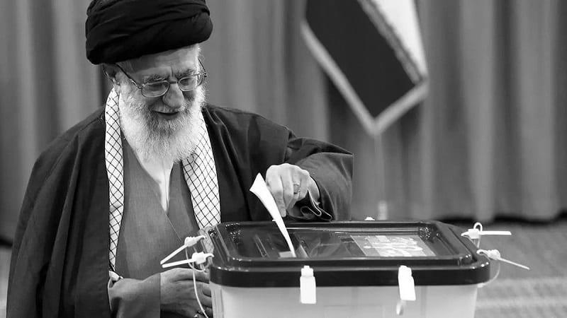 Photo of Khamenei voting