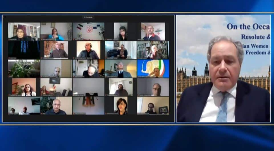 Bob Blackman, speaks at the online conference marking the International Women's Day