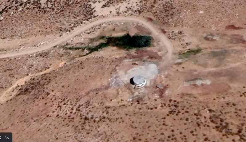 Gambar satelit menunjukkan fasilitas bawah tanah di ujung lokasi peluncuran rudal
