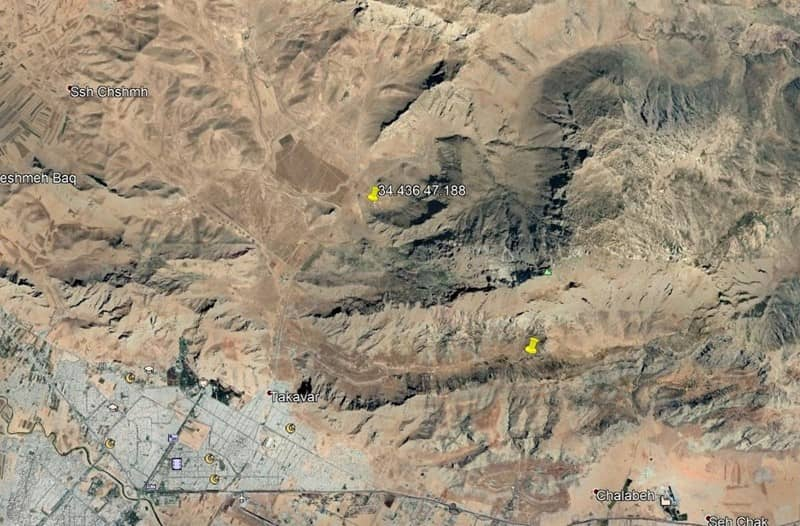 Satellite images demonstrate general area of the site and the tunnels to the north of the site
