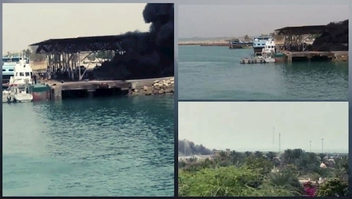 Iran: Reacting To the Killing and Wounding of Two Fuel Carriers  Baluch Youths Set Fire To Coast Guard Patrol Boats in Kouhestak (Hormozgan)