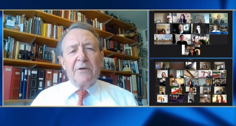 Lord Alton, speaks at the online conference marking the International Women's Day