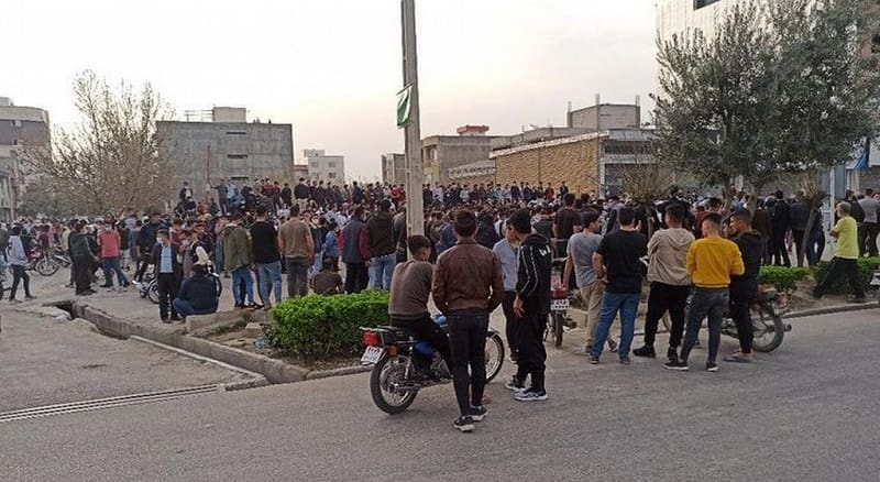 Protests in Golestan in northeast Iran - March 23, 2021