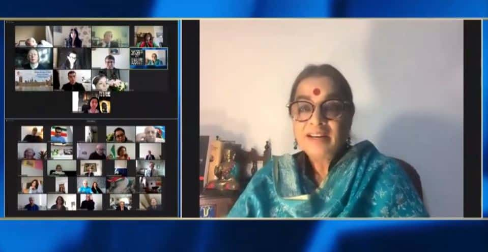 Ranjana Kumari, speaks at the online conference marking the International Women's Day