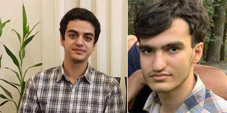 Ali Younesi dan Amir Hossein Moradi, dua siswa yang dipenjara di Iran