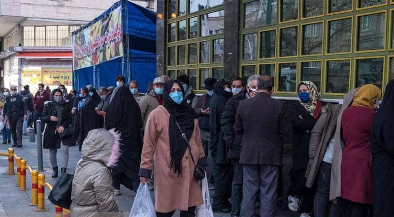 Full packed street in Tehran, Iran