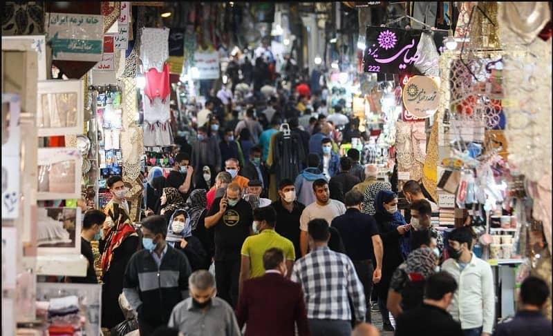 Iran, full-packed Bazaar