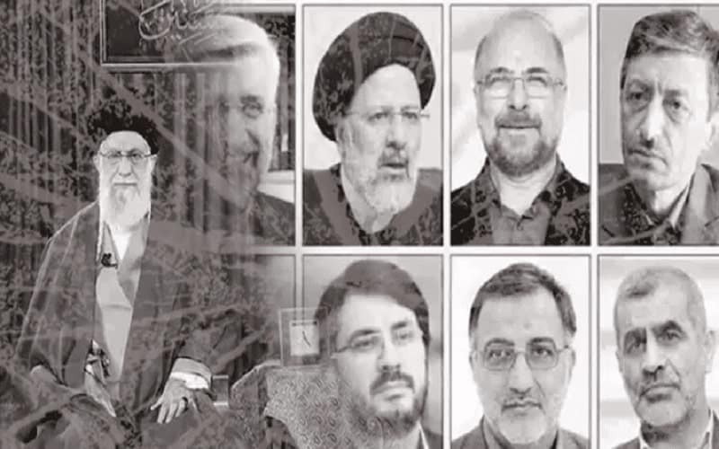 Khamenei and different Iranian regime presidential candidates