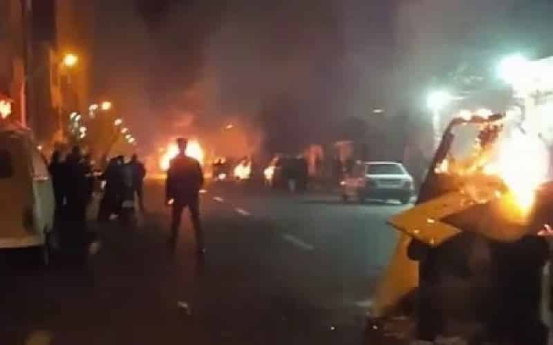 Iran-protests-fire-on-the-street