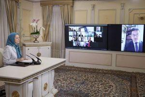 Maryam Rajavi April 15 online conference