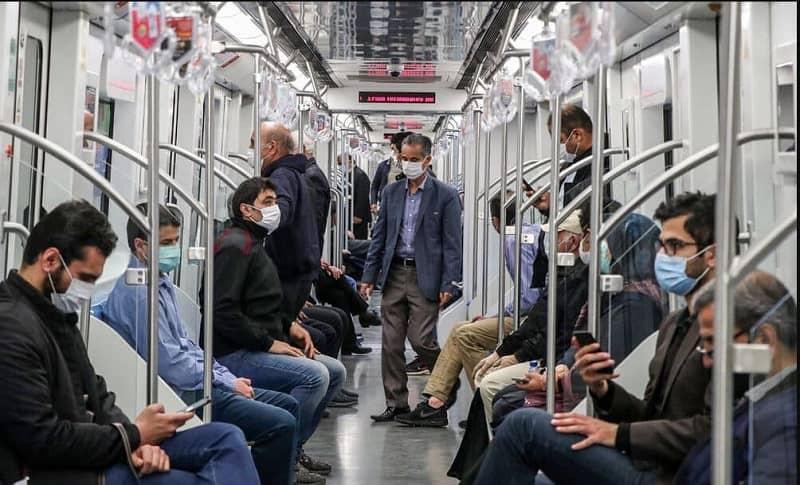 Packed metro in Tabriz, Iran