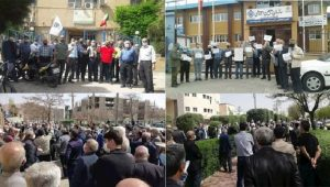 Pensioners in several Iranian cities hold protest rallies in front of the offices of the Social Security Organization