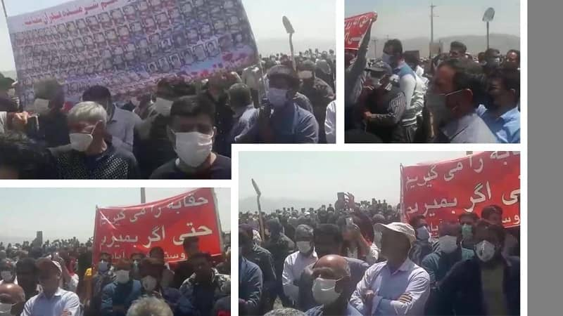 Isfahan – The farmers rally, demanding their water rights to Zayandeh-Rud river – April 24, 2021
