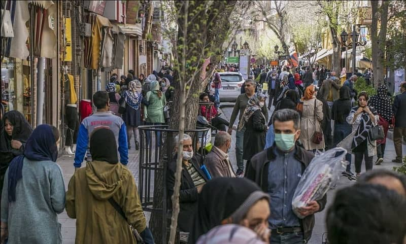 People walking on the streets of Tabriz, Iran