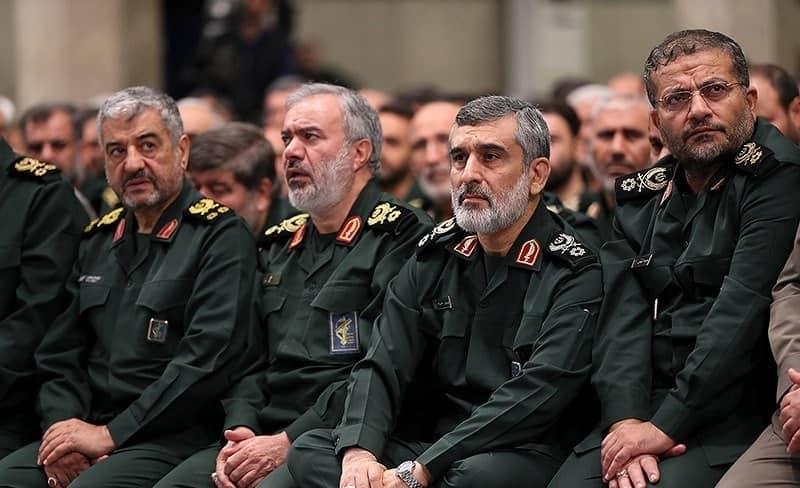 photo of IRGC commanders in Iran