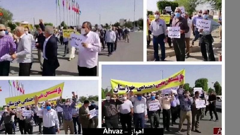 protest-pensioners-Ahvaz-Iran