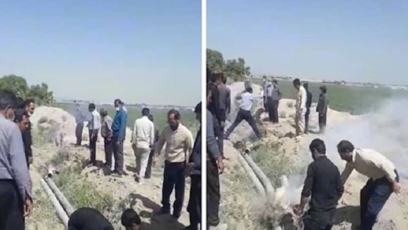 Protesting farmers in Isfahan province, central Iran