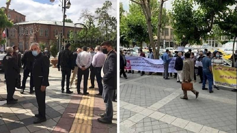 Protests by Azvico depositors (Tehran) and housing creditors (Urmia)